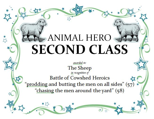 animal farm battle of the cowshed